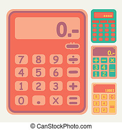tools Calculator icons set