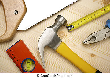 tools - construction background with instruments, selective ...