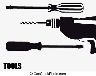 Tools design, vector illustration.