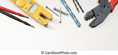 Tools for an electrical contractor - Various electrician ...