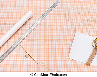 tools for creating of pattern on graph paper