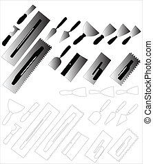 tools for painting 2 - vector