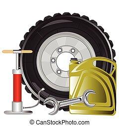 Tools for repair of the car