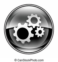 Tools icon black, isolated on white background.