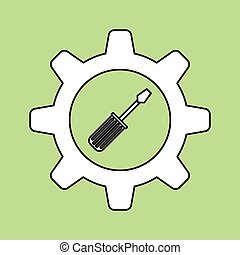 tools icon design, vector illustration