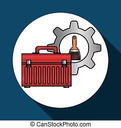 tools icon design, vector illustration