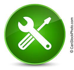 Tools icon elegant green round button