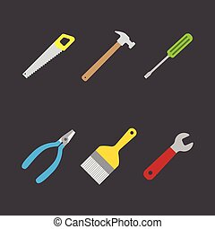 tools icon flat style