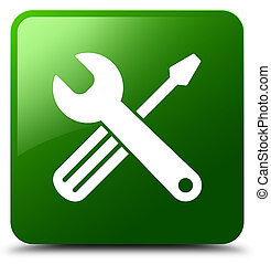 Tools icon green square button