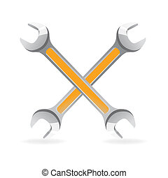 tools icon - illustration of tools icon on white background