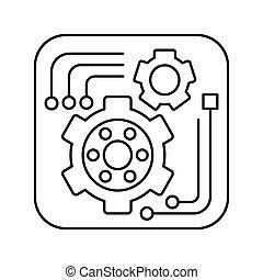 Tools icon in outline style for web or app design, infographics and creative design. Isolated vector lined illustration.