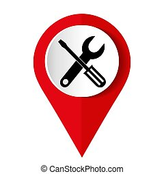 Tools icon on a white background. Vector illustration.