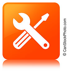 Tools icon orange square button