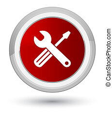 Tools icon prime red round button