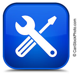 Tools icon special blue square button
