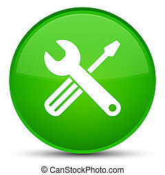 Tools icon special green round button
