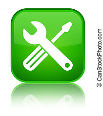 Tools icon special green square button