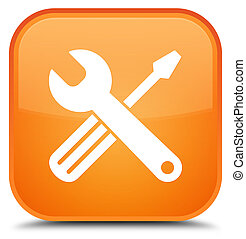 Tools icon special orange square button