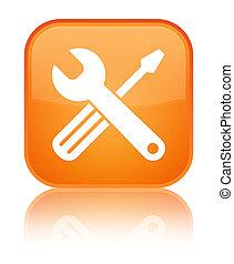 Tools icon special orange square button