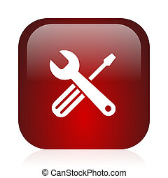 square red glossy icon