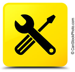 Tools icon yellow square button