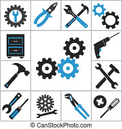 Tools icons. Vector set for you design