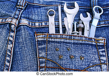 Tools in jeans pocket