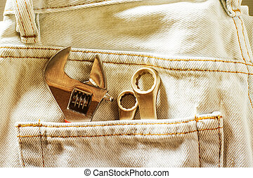 tools in your jeans pocket
