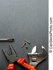 Tools isolated on grey
