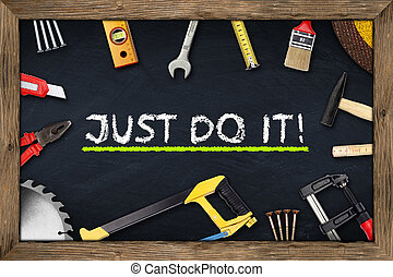 tools just do it chalkboard