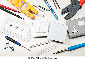 Tools of the trade - Various electrician tools and ...
