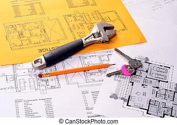 Tools on Blueprints including keys