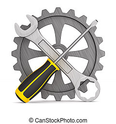 tools on white background. Isolated 3D illustration
