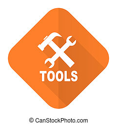 tools orange flat icon