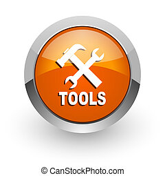 tools orange glossy web icon