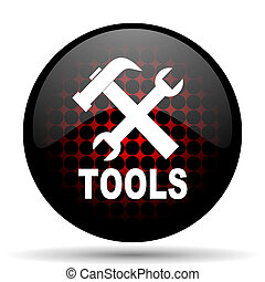 tools red glossy web icon