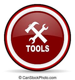 tools round glossy icon, modern design web element