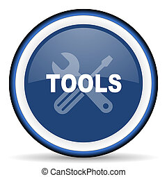tools round glossy icon, modern design web element