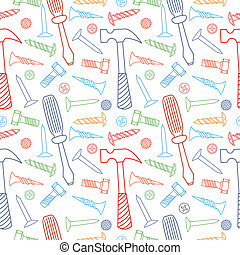 Tools seamless line color pattern.