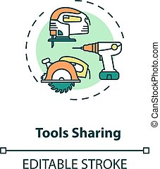 Tools sharing concept icon