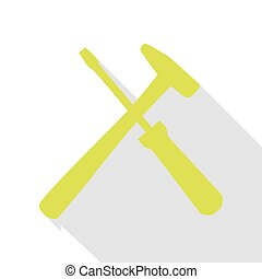 Tools sign illustration. Pear icon with flat style shadow path.