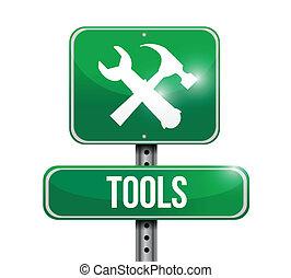 tools street sign illustration design