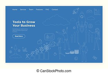 Tools to Grow Business Online Web Page Template
