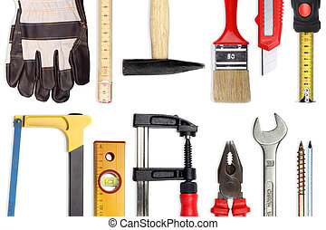 tools V - A Set of a lot of different tools and working...