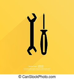 Tools vector icon.