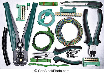 Tools with electrical component kit