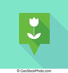 Tooltip icon with a tulip