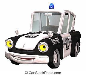 toon, autó, rendőrség