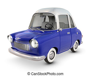 Toon Car - A Toon Styled Car isolated on white and clipping...