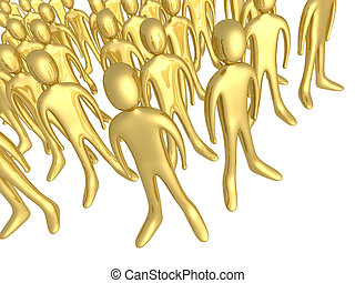 Toon Crowd - Computer generated image - Toon Crowd.